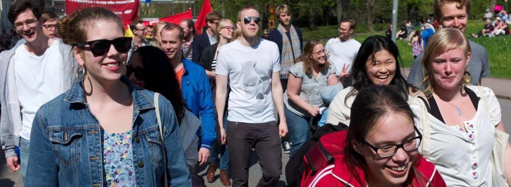 Bild: Demonstrationståg på första maj