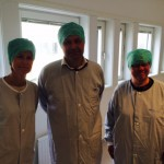 Mölndals sjukhus tre i motljus