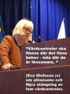 Eva i talarstolen med text mödravård 2
