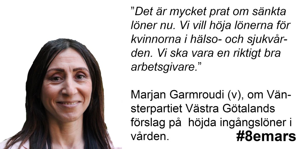 8 mars 2016 jämställda löner Marjan